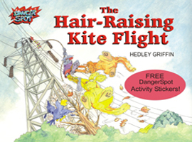The Hair-Raising Kite Flight, children's picture book teaching dangers of electricty.